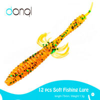 12Pcs Soft Fishing Lures lots of Artificial Octopus Baits Silicone Wobbler Lure
