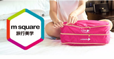 M SQUARE Folding portable square lightweight  travel storage cloth bag with zip