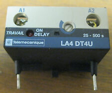 Telemecanique LA4DT4U Contactor Relay Timer Module  On-Delay - 25 to 500 seconds