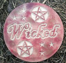 Wicked plaque plastic mold concrete plaster gothic mould