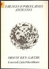 FAIENCES ET PORCELAINES FRANCE ETRANGER CIE DES INDES CHINES 1976