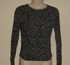"""Energie Black & Gray Pull Over Sweater M  Bust 32""""  Length 20"""""""