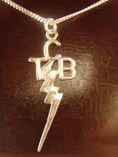 Elvis Presley JEWELRY TCB SOLID Silver Sterling 925 pendant + Chain necklace art