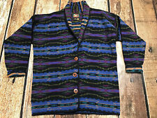 VINTAGE ALPS FINE WOMENS APPAREL AZTEC CARDIGAN SWEATER WOMENS SIZE LARGE EUC