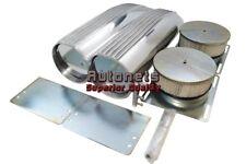 Polish Aluminum Fin Shotgun Intake Air Hood Scoop Single/Dual Bug Catcher Blower
