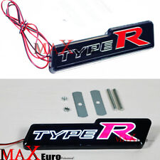 TYPE-R Front Grille Type R Badge Emblem LED Light for Honda Civic Accord  FIT