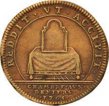 O3310 Jeton Louis XIV Chambre aux deniers 1705 Miroir Table Toilettes ->F offre