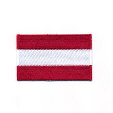 60 x 35 mm Österreich Flagge Austria Flag Wien Graz Aufnäher Aufbügler 0914 B
