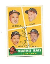 ANDY PAFKO & George Myatt Autograph / Signed 1960 Topps # 464 Card Braves