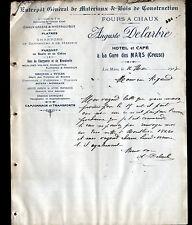 """LES MARS (23) FOUR à CHAUX / BOIS / HOTEL & CAFE """"Auguste DELARBRE"""" en 1907"""