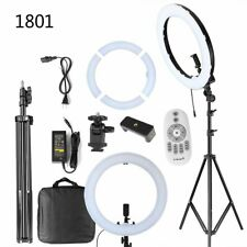 18'' Led Smd Ring Light Kit With Stand Dimmable 5500K For Camera Makeup Phone my