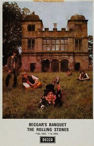 THE ROLLING STONES 'Beggars Banquet' Decca Album Window Poster -  reprint