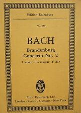 J. S. Bach: Brandenburg Concerto No. 2, Taschenpartitur, gebr.