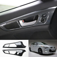 For Hyundai Veloster 2012-2017 carbon fiber auto Interior door handle cover trim