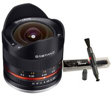 Samyang 8mm F2.8 UMC ED f/2.8 Fish-Eye Version II Black Lens for Fujifilm Fuji X