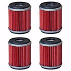 4-Pack Oil Filter Filters for Yamaha YFZ450 YFZ450R YFZ450W YFZ450X Raptor 250