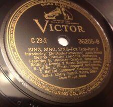 """BENNY GOODMAN ~ SING, SING, SING, 78 RPM 12"""" 1937"""