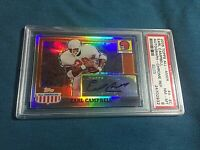 2005 Topps All American Earl Campbell TEXAS Auto Refractor PSA NM -MINT 8 HOF'ER