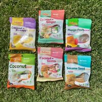 Puerto Rico Candy Mix 6 PACK Coconut Pineapple Ginger Guava Mango Sesame Seed