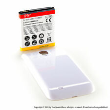 5600mAh Extended Battery for Samsung Galaxy S 4 IV i9500 White Cover