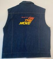 Vtg Snap-On On The Move Denim Jacket Vest RARE 80's NWOT By Cowden Made In USA