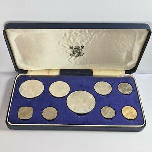 1966 Bahama Islands 9 Coin Set 4 Silver Coin 2.87 Ounces UNC 181637B