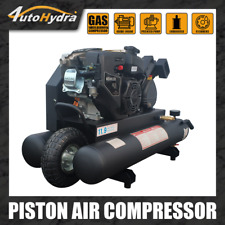 65hp Gsa Powered 95gal Tank Kohler Engine Wheelbarrow Piston Air Compressor