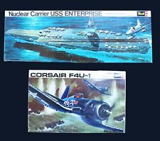Corsair F4U-1 and USS Enterprise model kits Vintage 70's