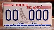 RHODE ISLAND - 1980s vintage SAILBOAT Prototype SAMPLE license plate
