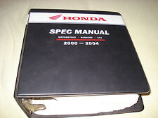 Honda 2000-2004 Motorcycle Scooter Atv Spec Manual