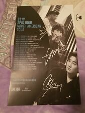 Epik High Tablo 2019 North American Tour Signed Autographed Poster