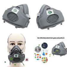 Half Face Gas Cover Facepiece Respirator Painting Spraying Chemical