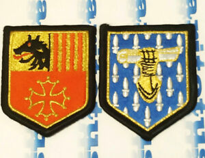 Set 2 Patch Gendarmerie Nationale France Police