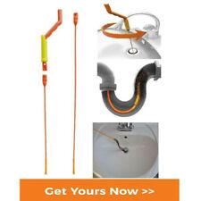 Drain Cleaner UnBlocker Stick Hair Remover BathSink Shower Snake Anti-Clog Tool