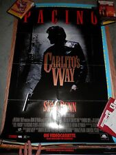 Carlito's Way Al Pacino 1990 Original Vintage One Sheet Video Poster 1SH VHS