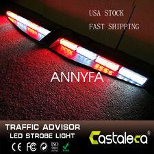 32 LED Car Emergency Warning Strobe Visor Mount Deck Dash Light Bar  R/W
