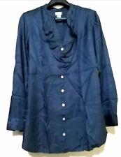 H&M Blue Ruffled Longsleeve Shirt
