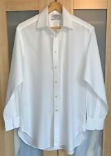 "CHARLES TYRWHITT CLASSIC BUSINESS COLLAR WHITE SINGLE CUFF SHIRT 16""/34"""