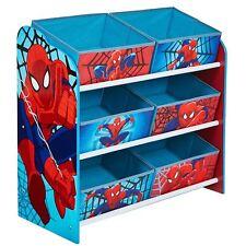 SPIDERMAN 6 Poubelle unité de stockage - pour enfants jouets LIVRES JEUX