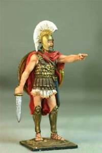Painted Tin toy soldier 54mm. Greek Hoplite, 5th century BC