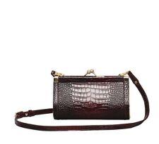 ERDEM x H&M HANDBAG Leather Shoulder Bag - Burgundy Crocodile Pattern SOLD OUT