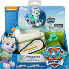 PAW PATROL EVEREST RESCUE SNOWMOBILE ACTION FIGURE VEHICLE PUP FIGURINES KID TOY