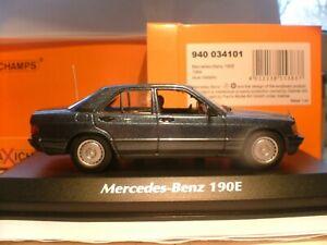 WOW SUPERB RARE MAXICHAMPS 1/43 1984 MERCEDES-BENZ 190E (W201) SUPERB DETAIL NLA
