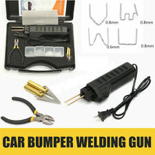 Hot Stapler Car Bumper Fender Fairing Welder Gun Plastic Repair Kit&200 Staples
