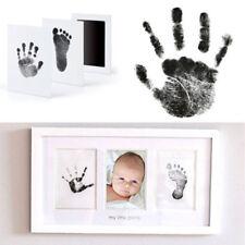 Fotorahmen Kit neugeborenes Baby Handabdruck Footprint mit Clean Touch Ink Pad