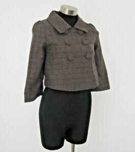 Ben Sherman Grey Wool Blend Ladies Jacket Size XS