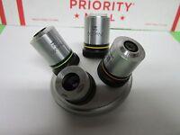 MICROSCOPE OBJECTIVES NEO 5 10 20 40 OLYMPUS + NOSEPIECE OPTICS BIN#F1-V-72