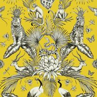 MENAGERIE ANIMAL LUXE WALLPAPER YELLOW BELGRAVIA 2001 - TROPICAL QUIRKY