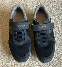 Geox Boys Navy Blue Suede Shoes Size 3 Euro 34