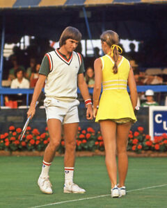 1974 Tennis Doubles JIMMY CONNORS and CHRIS EVERT Glossy 8x10 Photo Print Poster